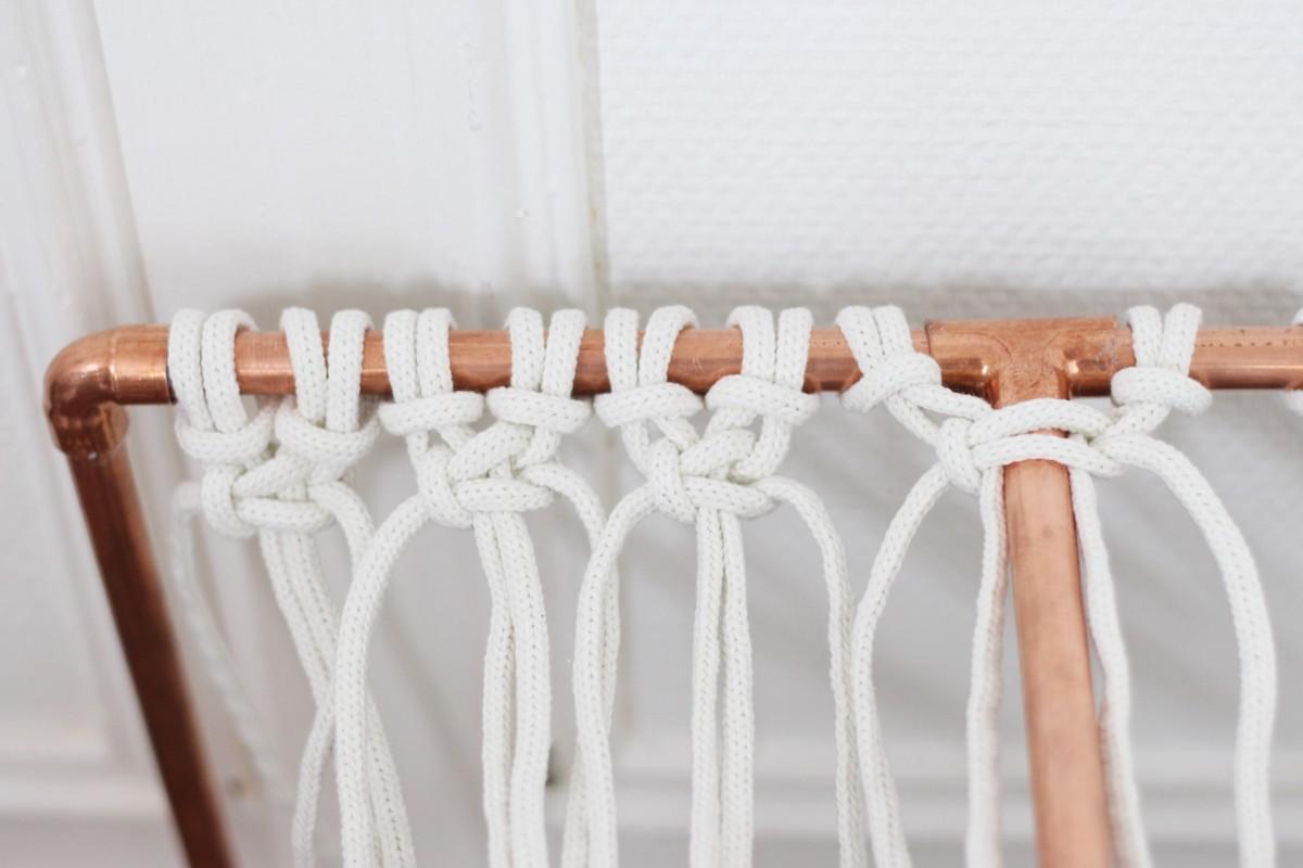 schéma noeud banc macramé corde facile explication