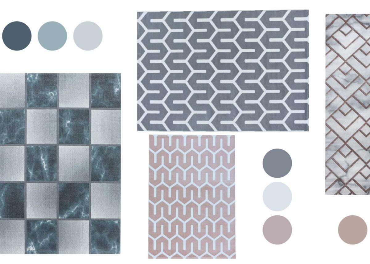 tapis géométrique salon taille choisir dimension