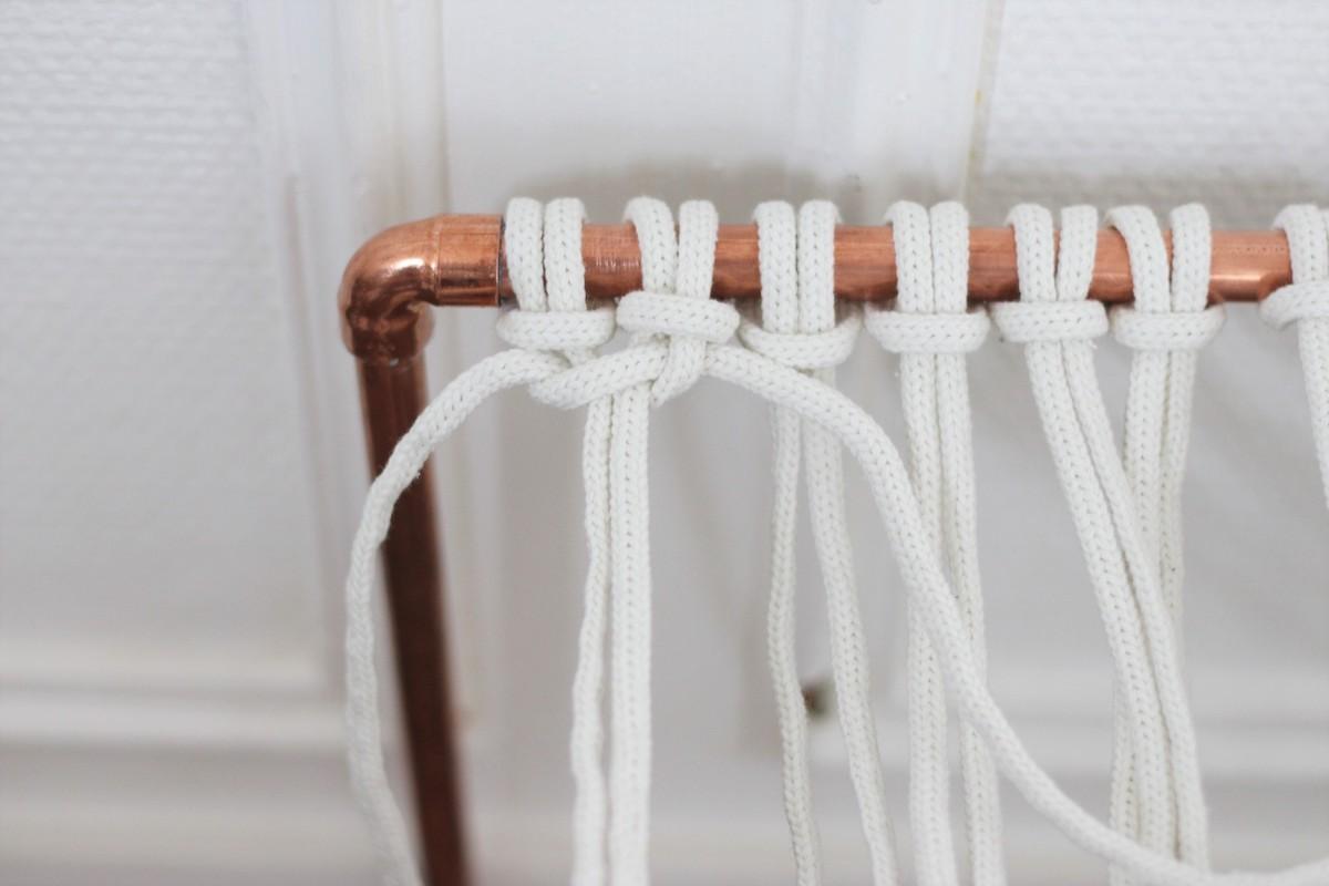 technique nouage corde noeud plat d'alouette-facile