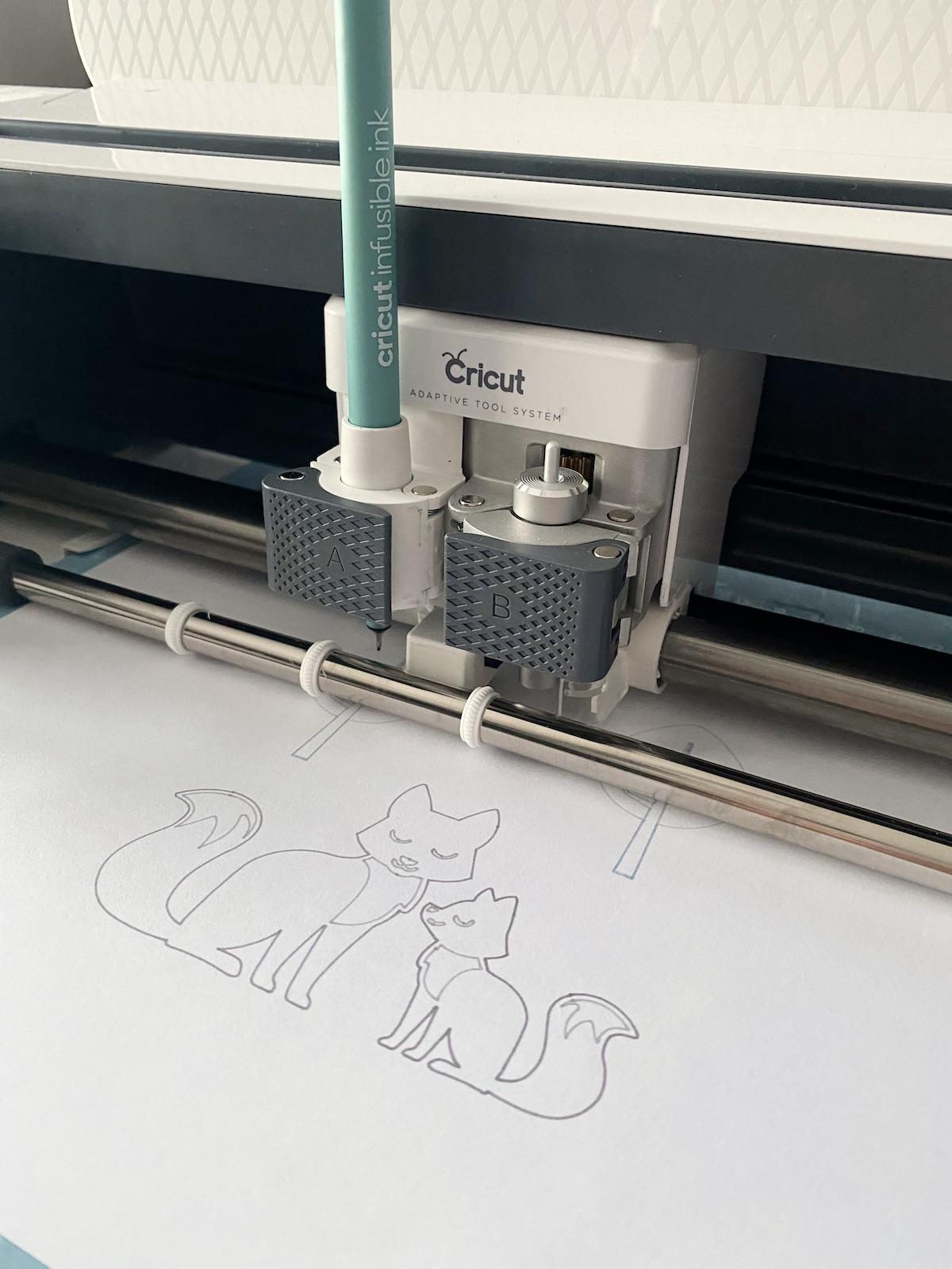 test feutre marqueur infusible ink cricut modèle gratuit