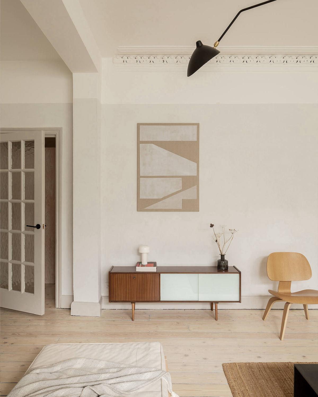 appartement deux pièces à Londres retro design