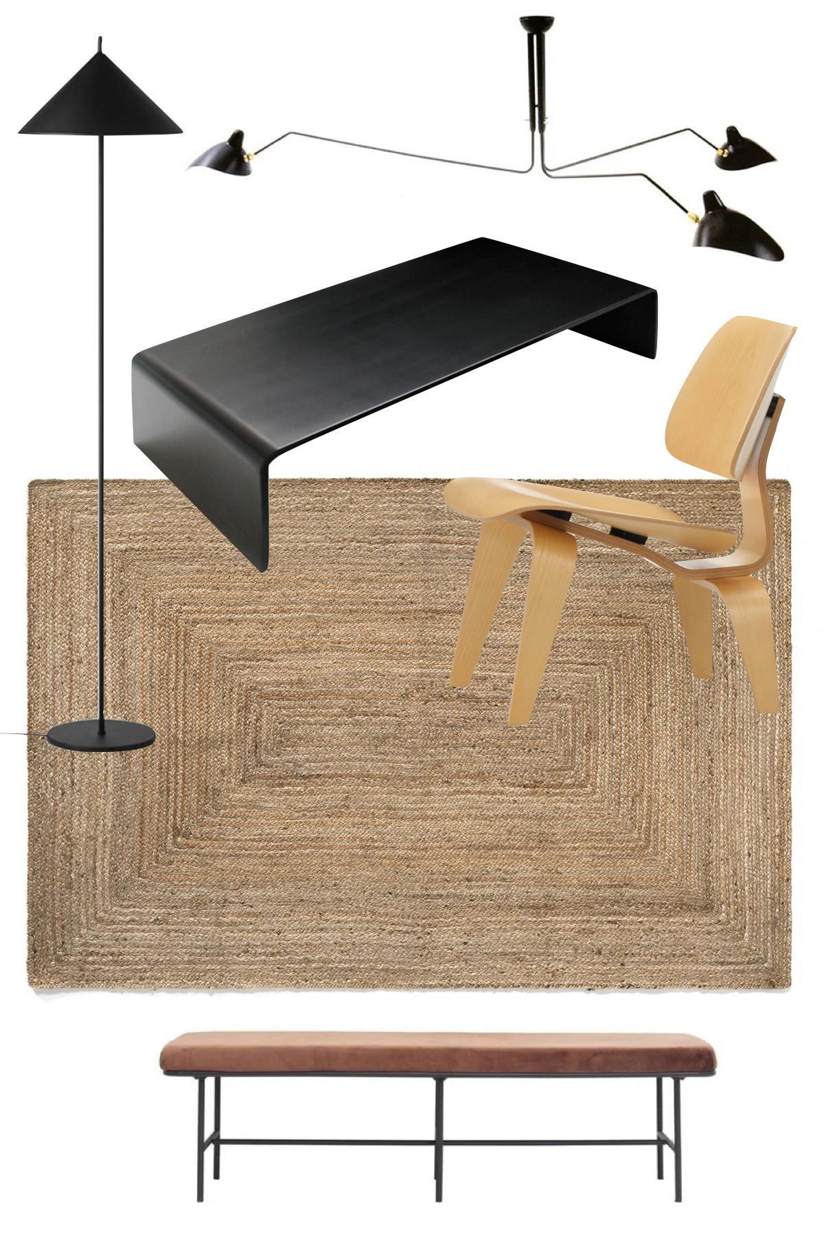 appartement deux pièces Londres déco minimaliste bois noir