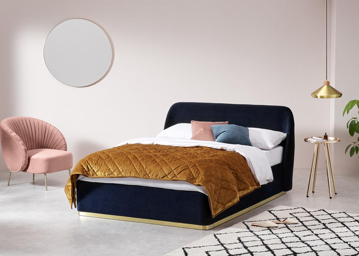 Bien choisir cadre de lit chambre adulte lit velours