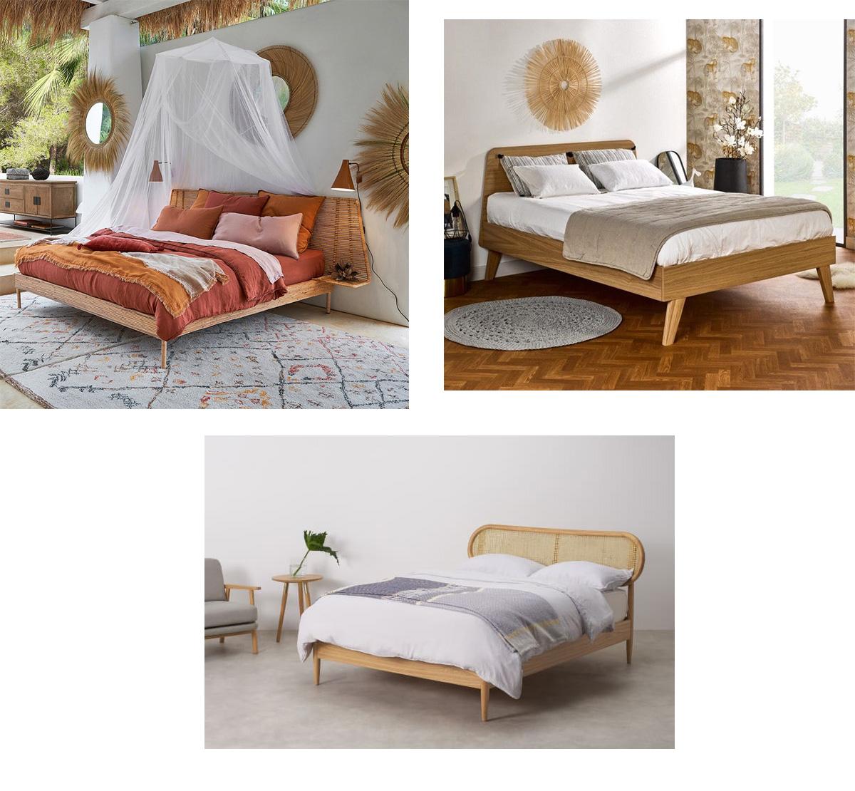 bien choisir sa structure de lit chambre bois rotin osier bambou