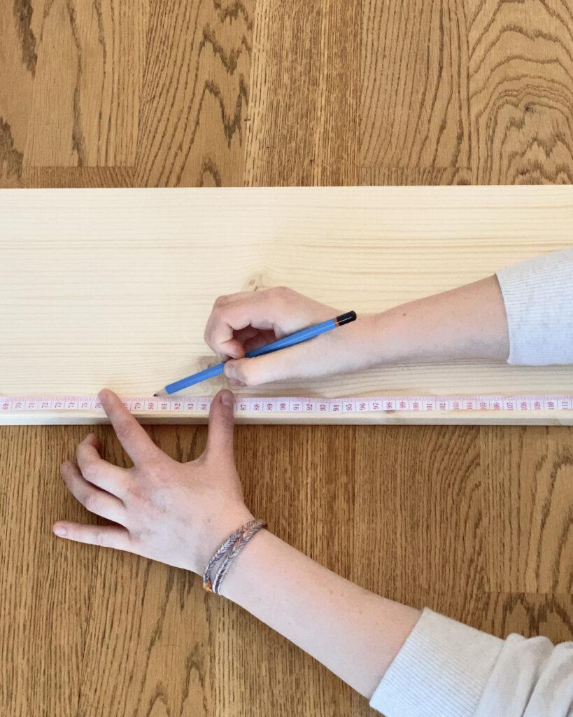 comment prendre mesure découpe bois scie automatique