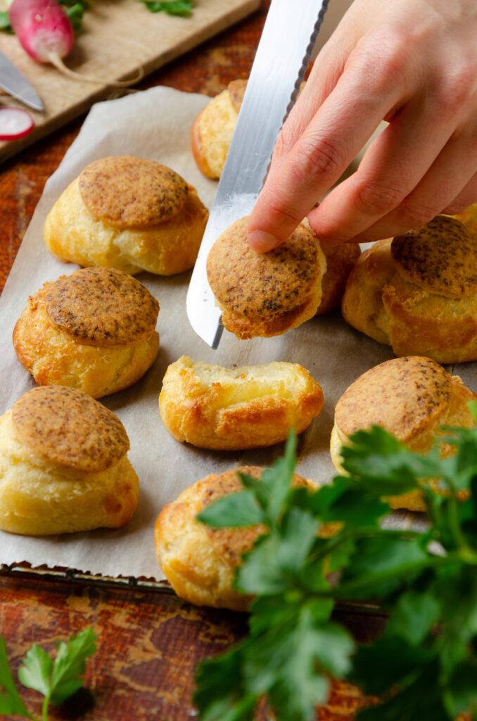 cuisson pâte à choux craquelin apéro