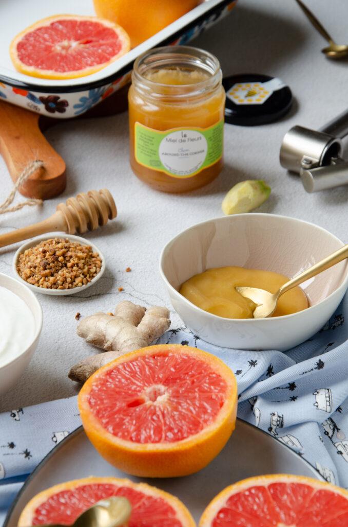 gourmandise pamplemousse miel gingembre fait-maison