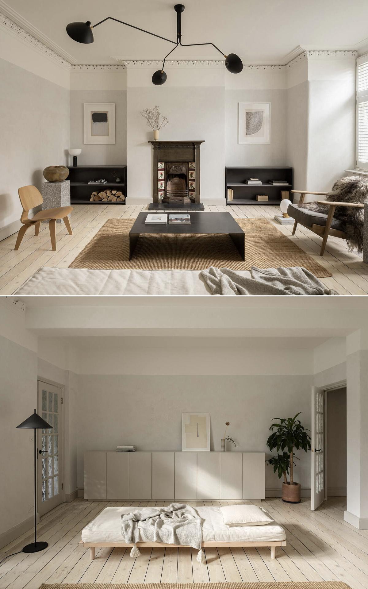 salon minimaliste style japandi déco design - clemaroundthecorner