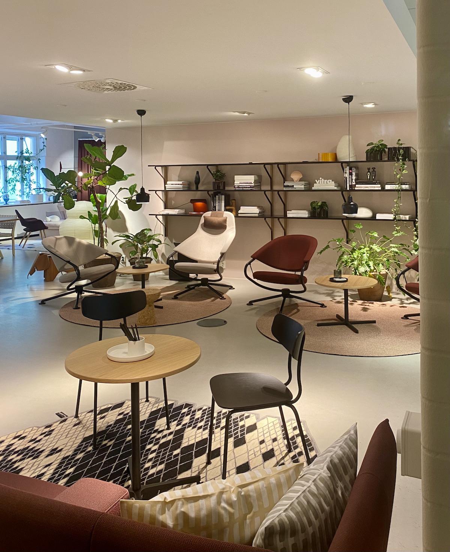 showroom boutique Vitra Suède fauteuil bureau