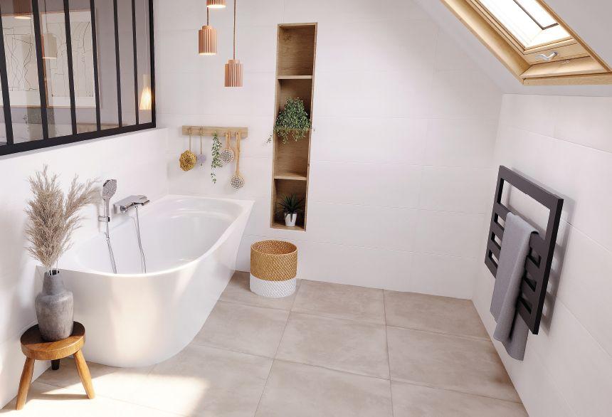aménagement baignoire suite parentale sous toit combles