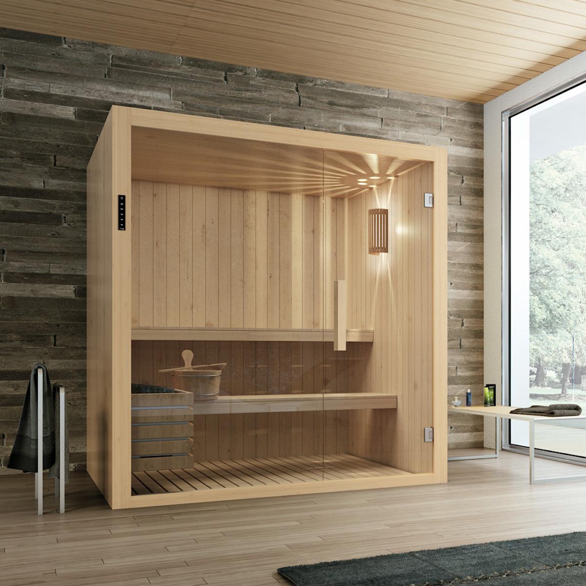 bienfait sauna salle de bains cabine antistress