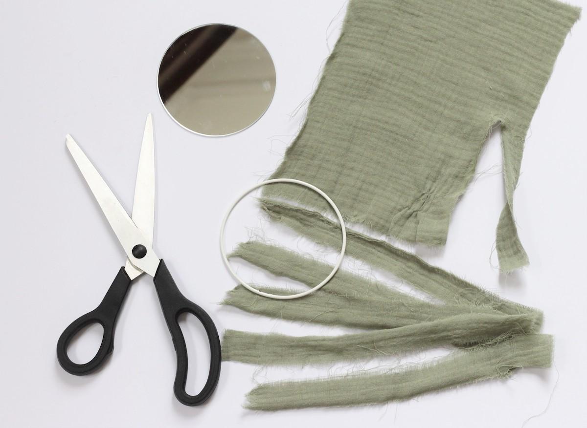 idée décoration diy avec bout de tissu gaze de coton