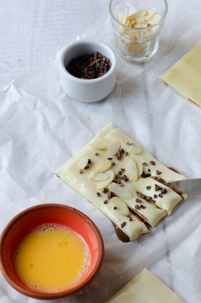 idée dessert gourmand avec grue de cacao