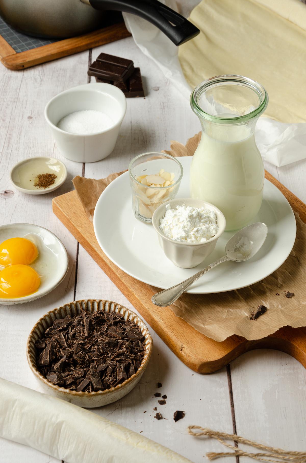 ingrédients viennoiserie chocolat noix de coco