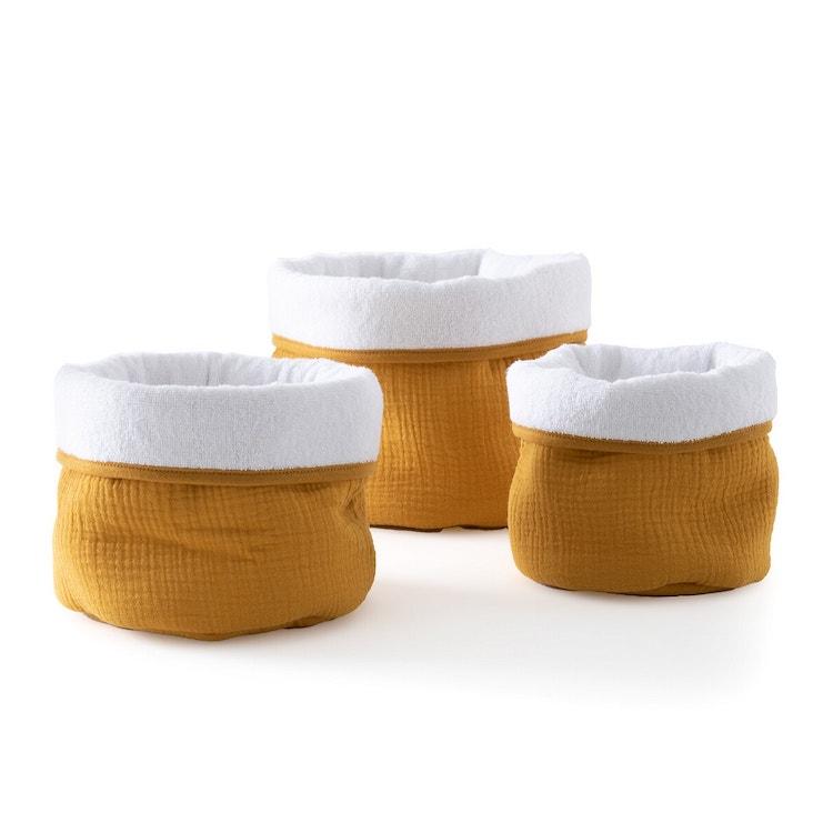 panier rangement gaze de coton affaire nourrisson table à langer