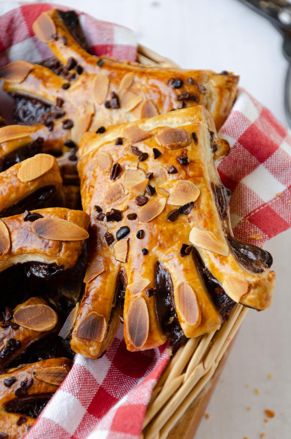 recette patte ours pâte feuilletée fourrée chocolat