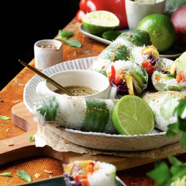 recette rouleaux de printemps vegan facile équilibre