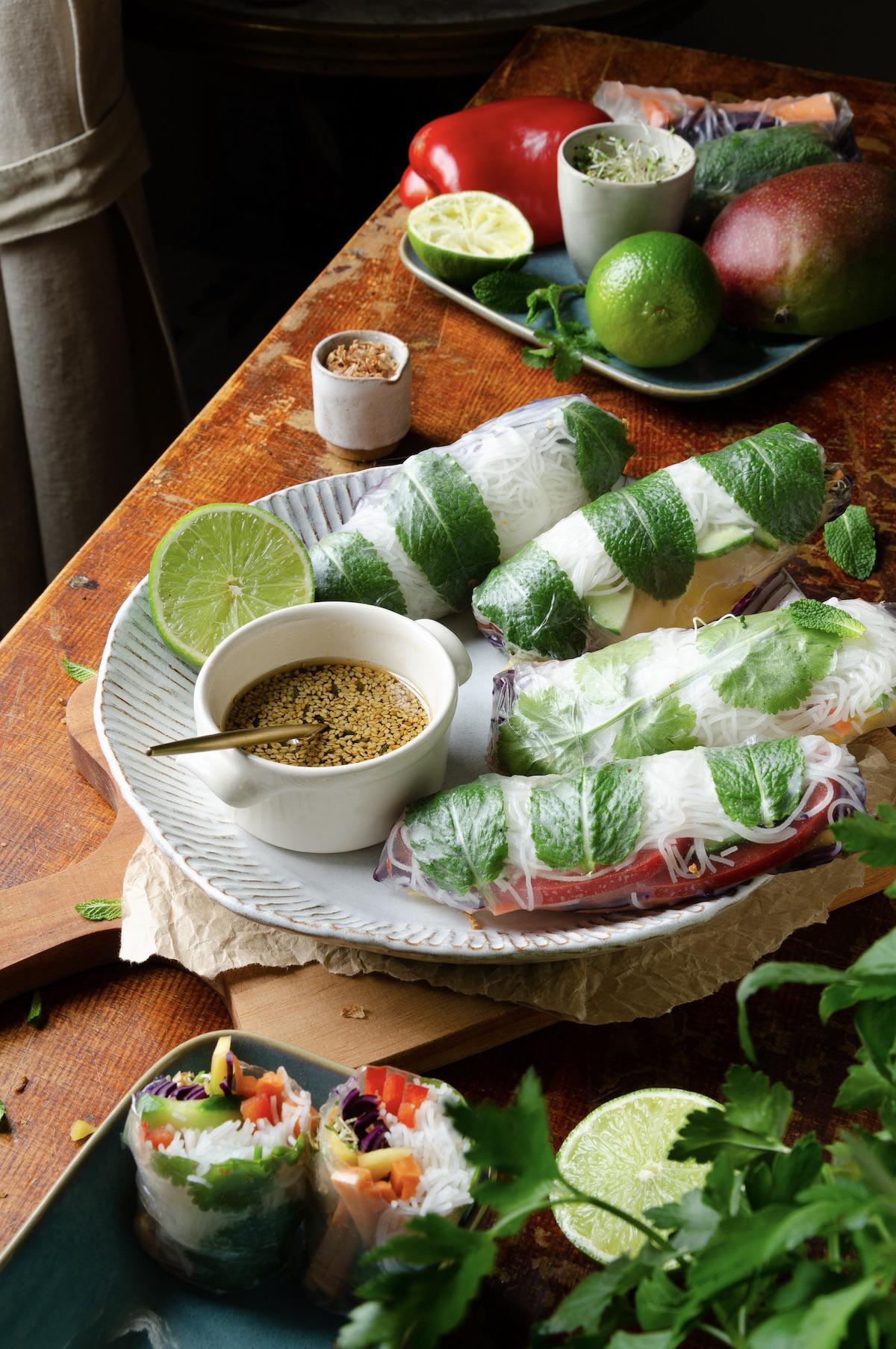 rouleaux chinois apéritif recette végétarienne