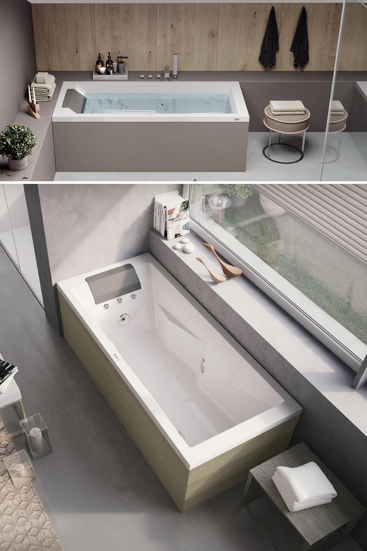 spa jacuzzi intérieur baignoire balneo design