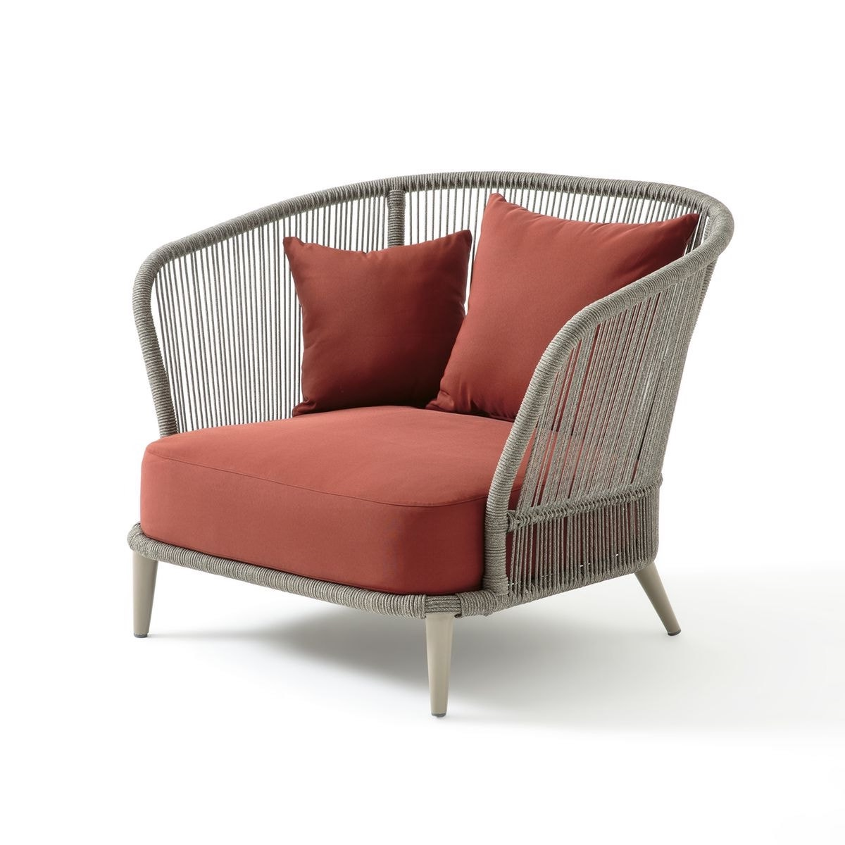 fauteuil relax de jardin gris beige terracotta moderne