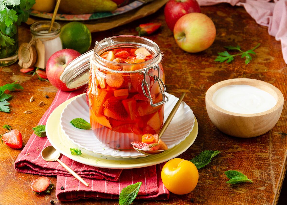 fruit pickles minute recette dessert original fait-maison