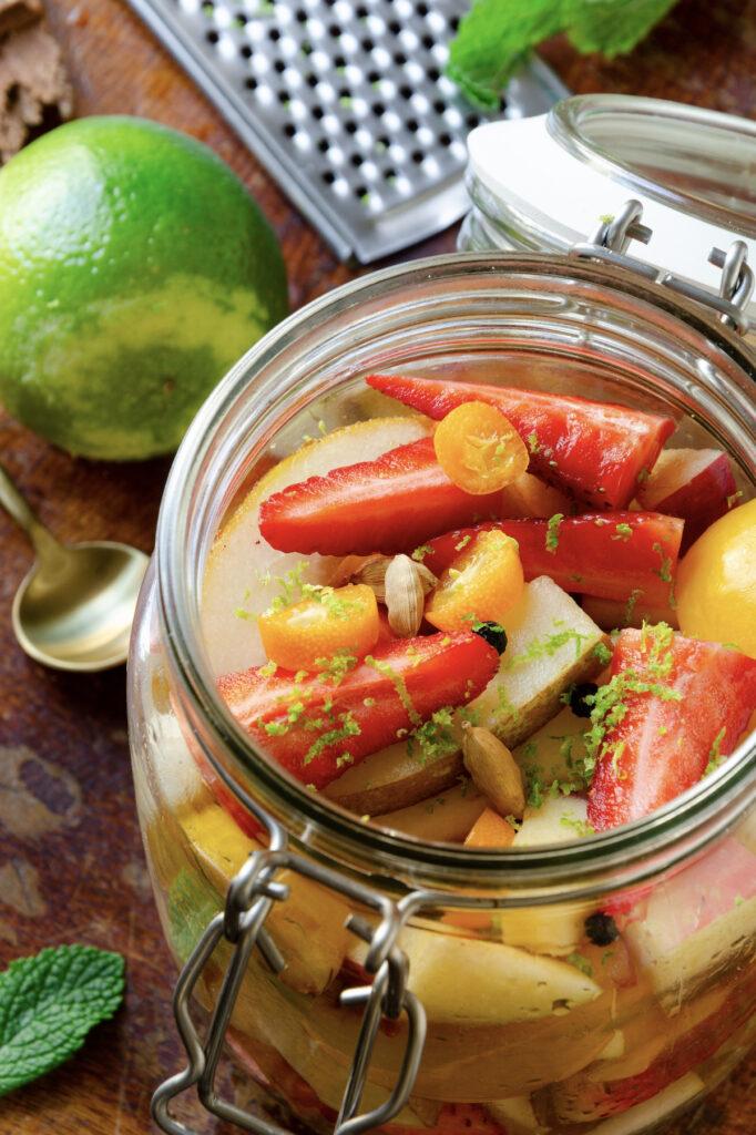 recette salade de fruit fraise kumquats
