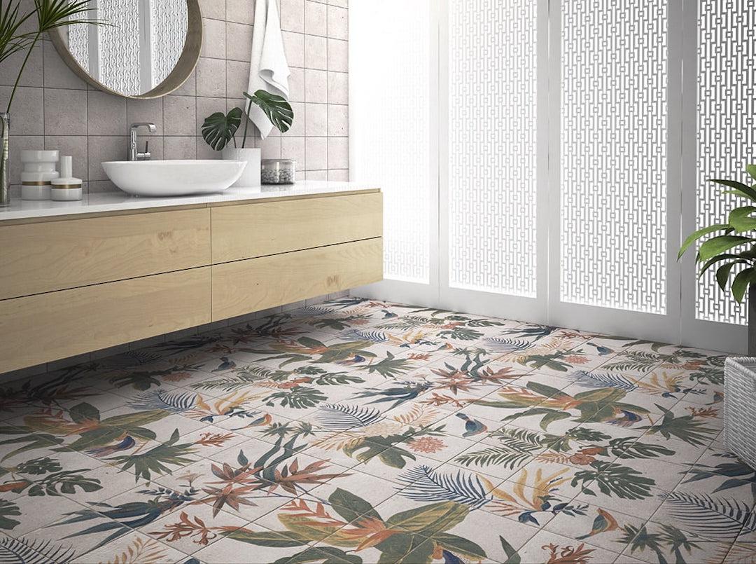 salle de bains apaisante ambiance urban jungle nature zen