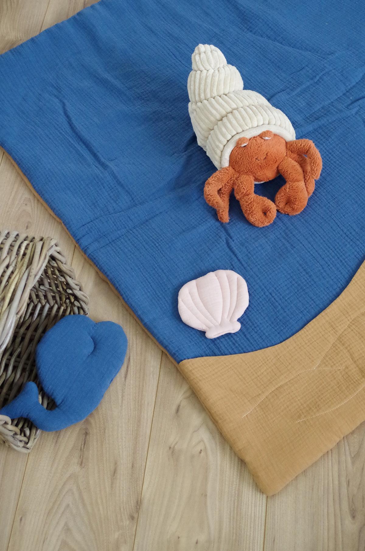tuto couture tapis d'éveil fait main en gaze de coton