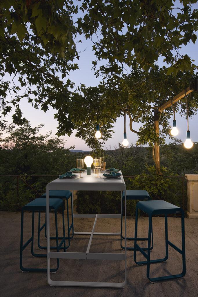 coin repas terrasse mange-debout design outdoor