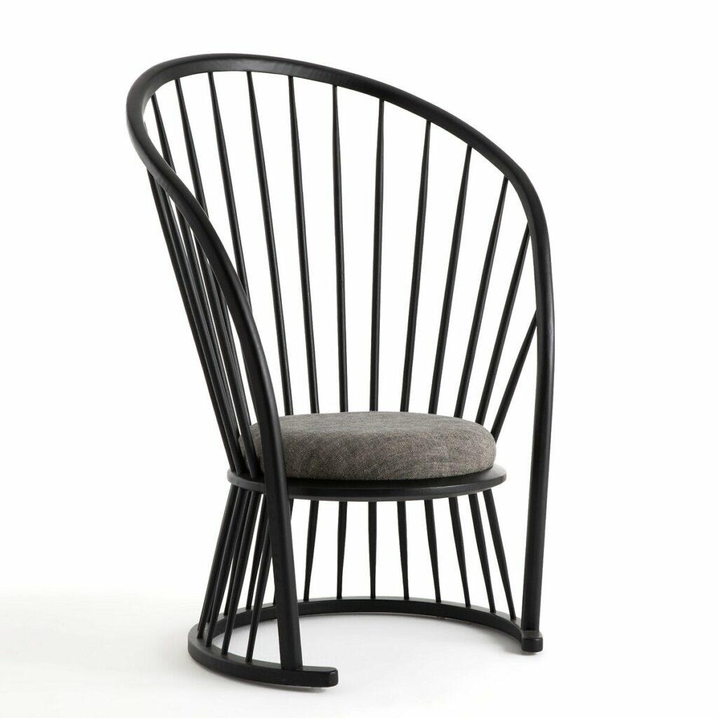 fauteuil Windsor moderne élancé en bois barreaux rond