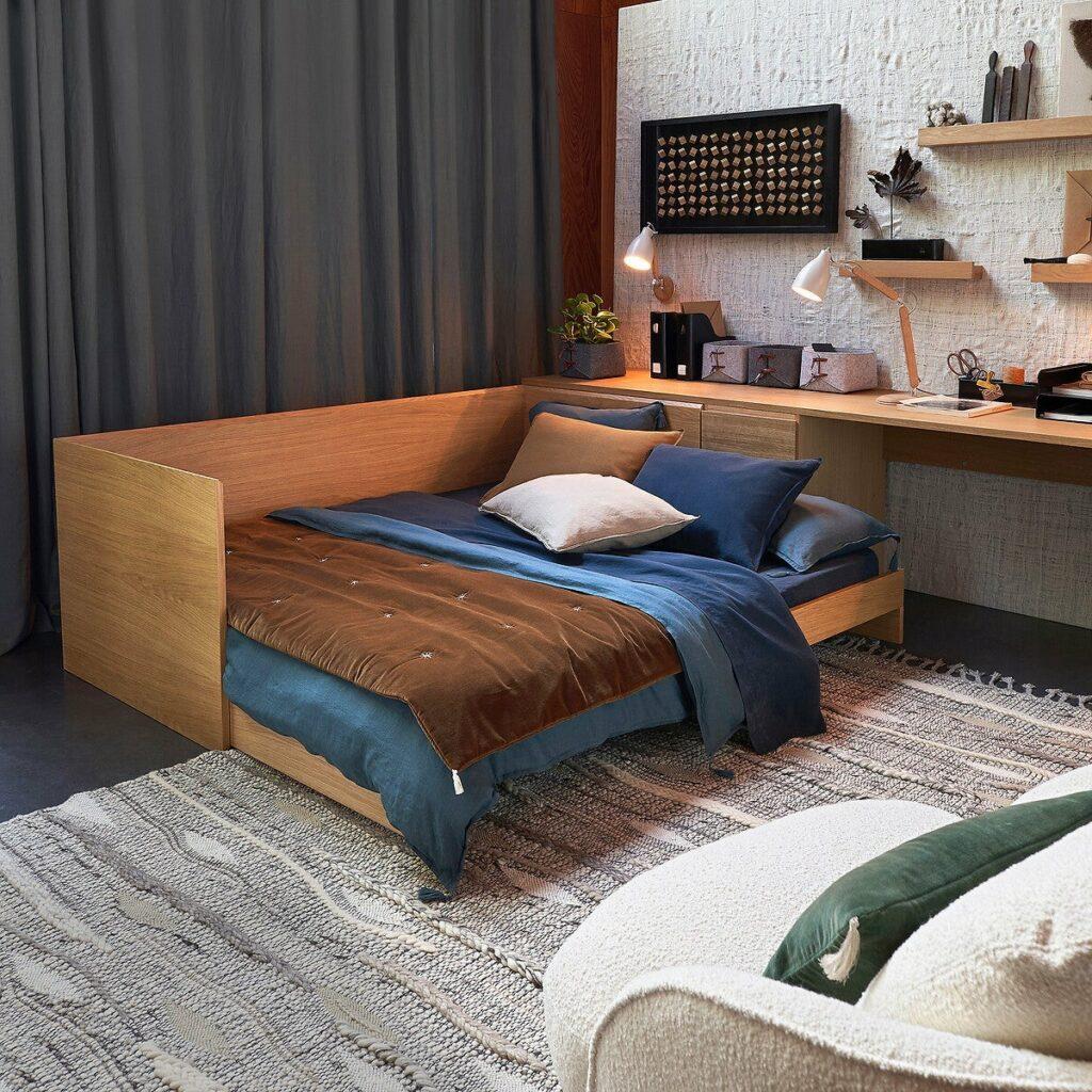 lit banquette design appartement étudiant modulable