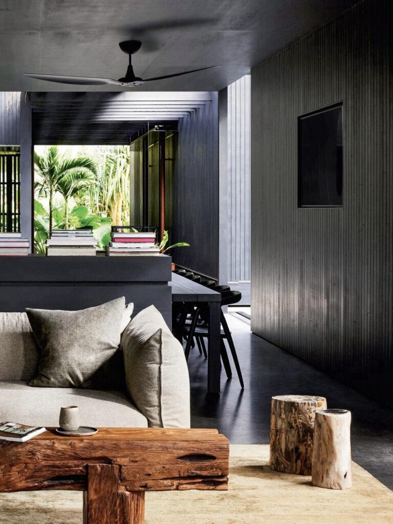 cloison subtile meuble bas entre salon salle à manger séjour séparation