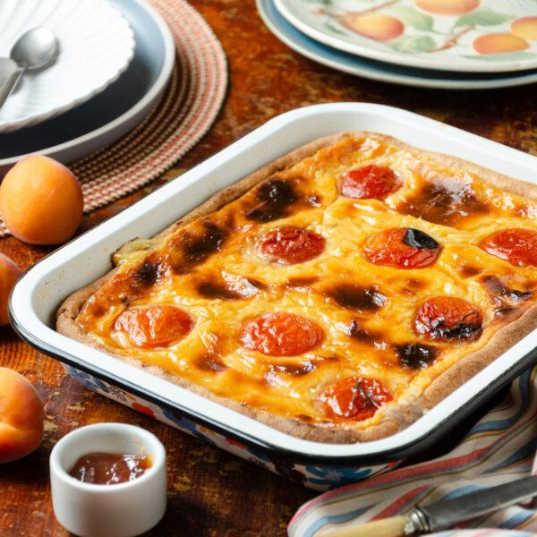 recette flan pâtissier abricots frais dessert été facile