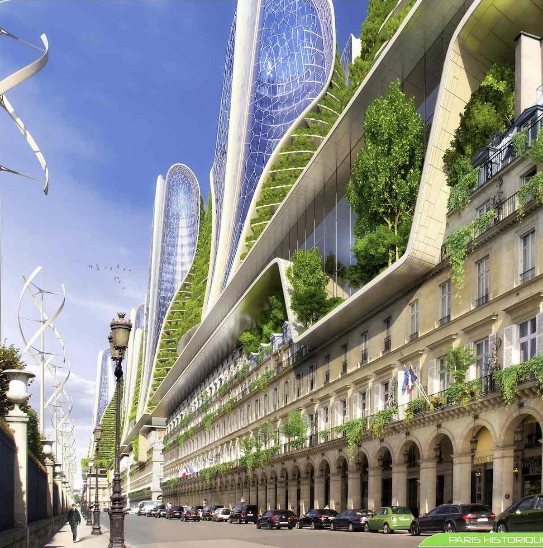 rue de Rivoli architecture moderne verte écologique nouveau haussmann