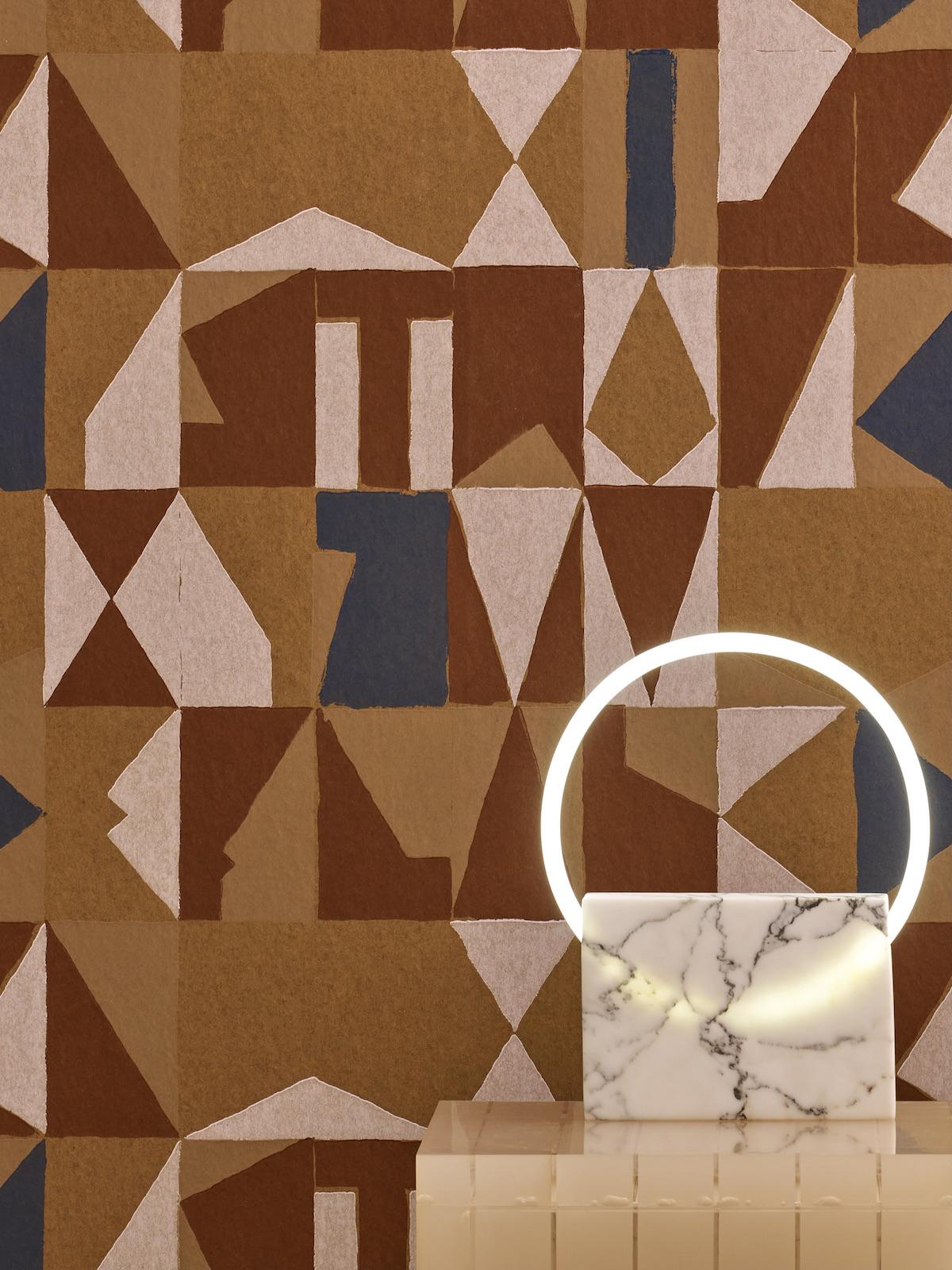 Francois Mascarello décor mural bronze déco motif abstrait