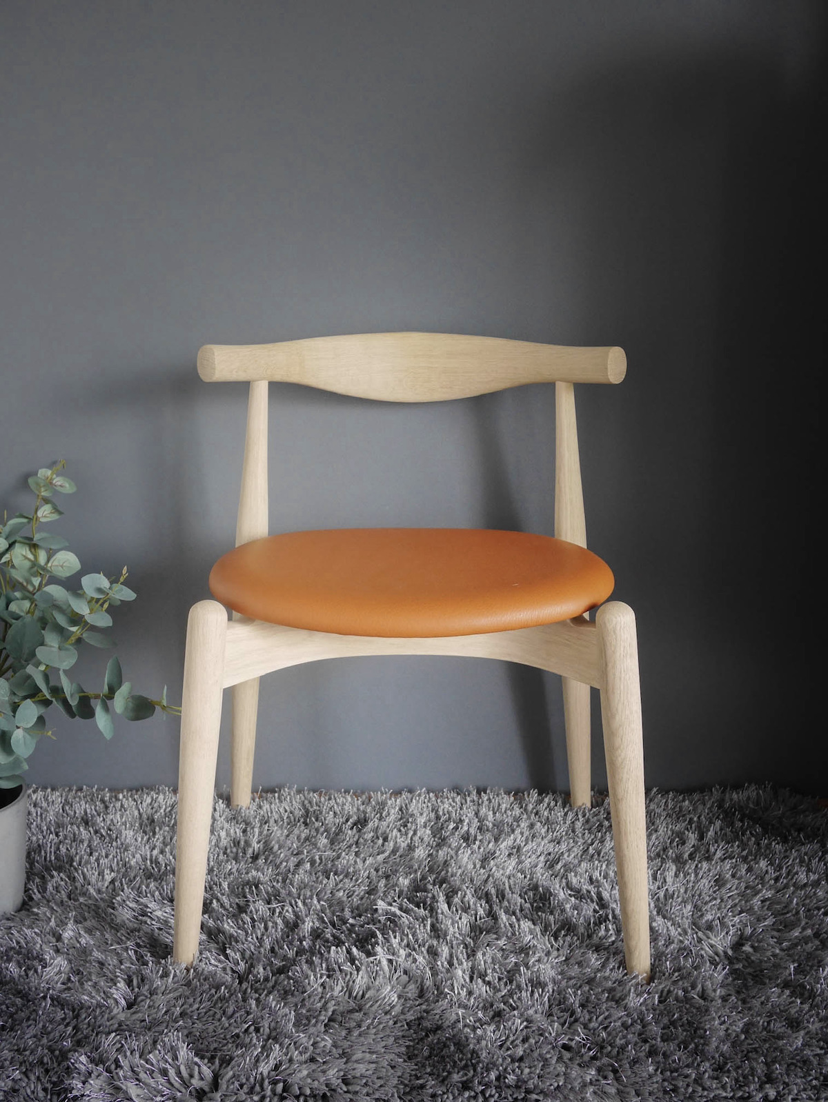 chaise danois bois cuir icône design CH20 ELBOW CHAIR Hans J. Wegner