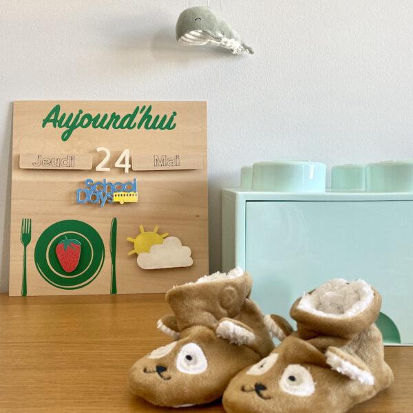 diy semainier Montessori maternelle - blog création déco - clem around the corner