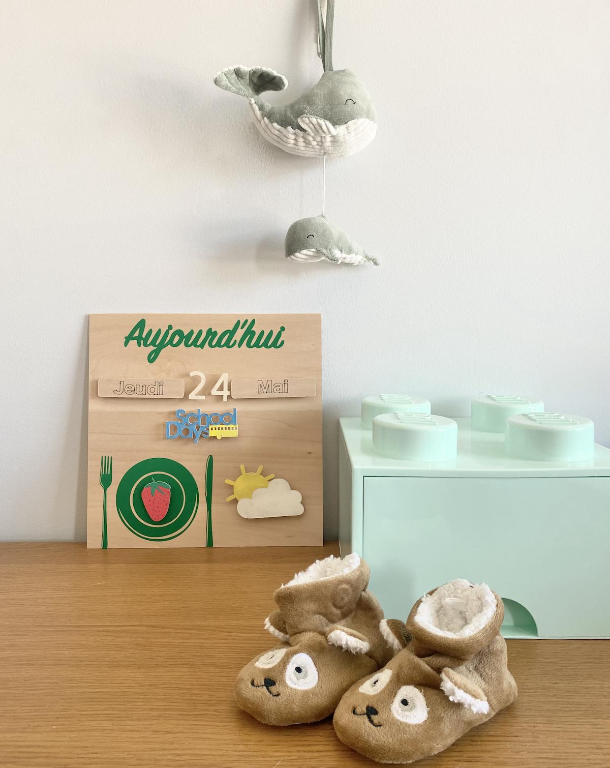 diy semainier Montessori maternelle en bois à faire soi-même