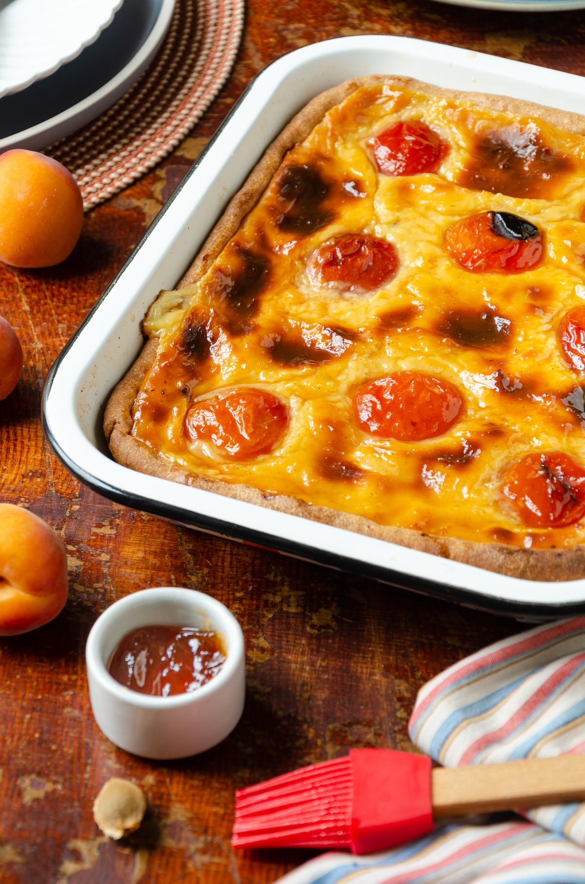 flan pâtissier abricots frais - blog cuisine maison - clem