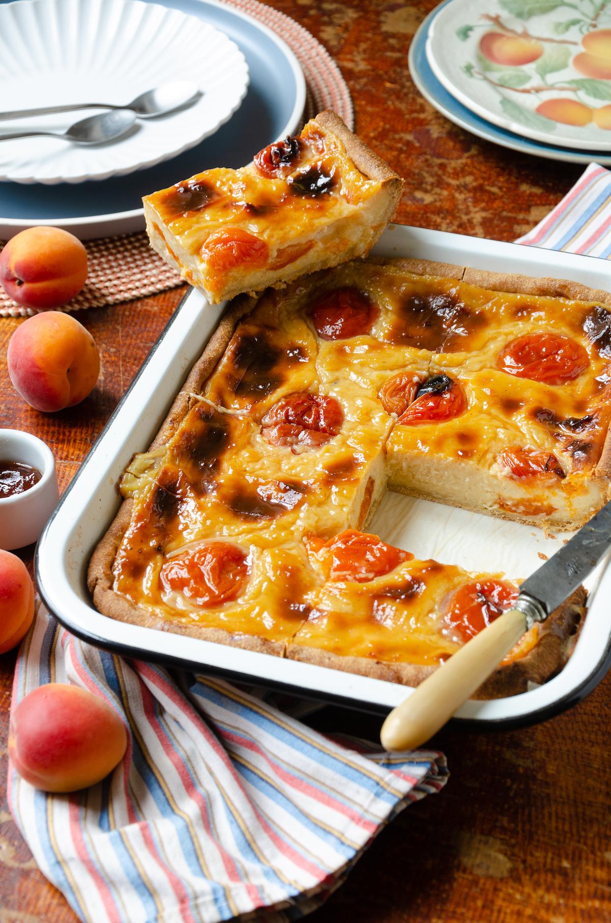 flan pâtissier abricots frais recette cap