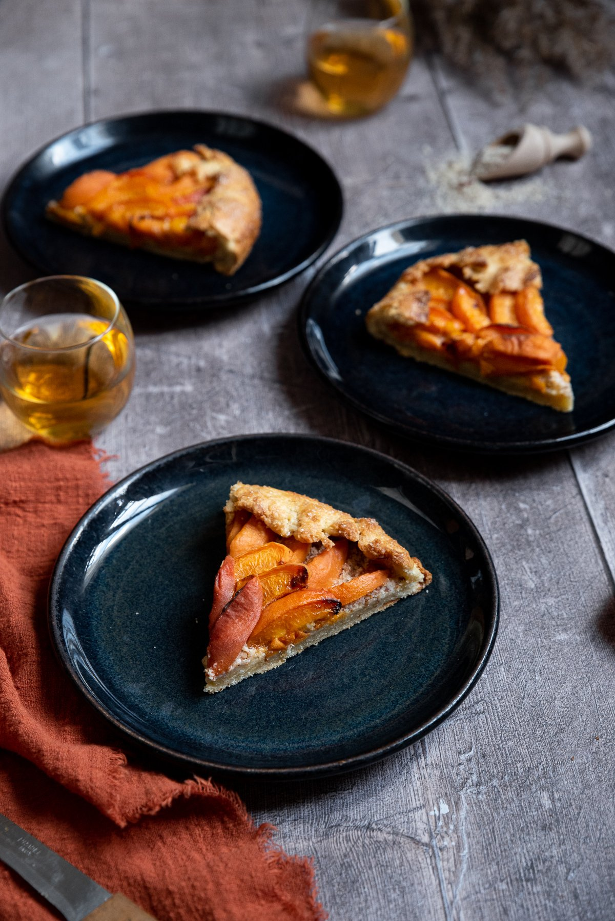 gâteau rustique pâte sablée faite-maison abricot fruit été