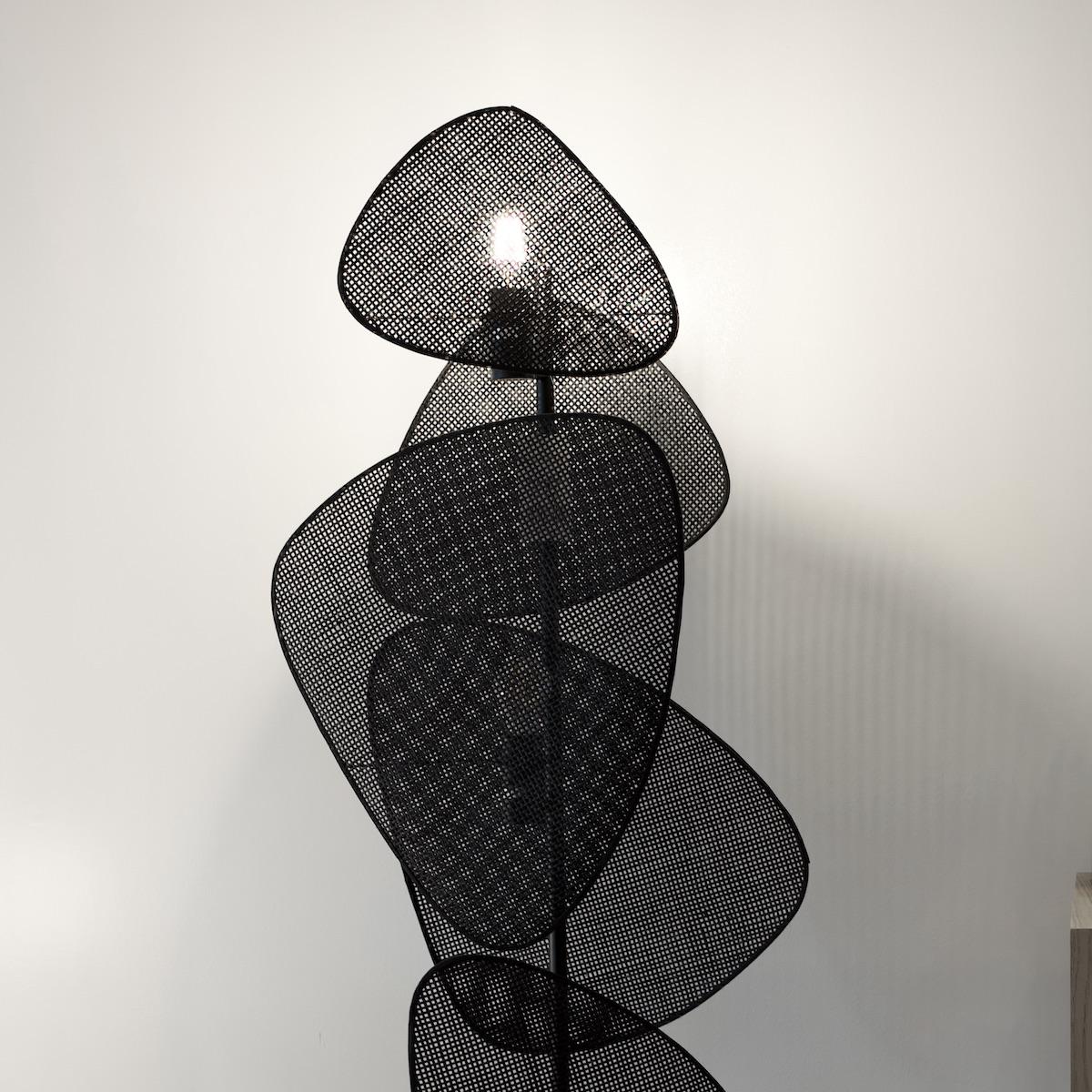 lampadaire grillage déco métallique filaire noir préparer la rentrée