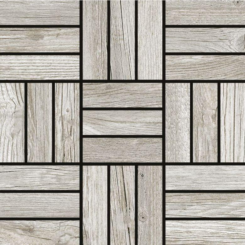mosaïque carrelage effet bois exotique trompe oeil douche italienne originale