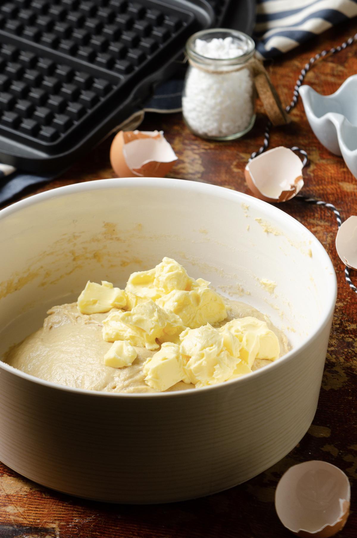 recette pâte gaufre ronde de Liège grand-mère