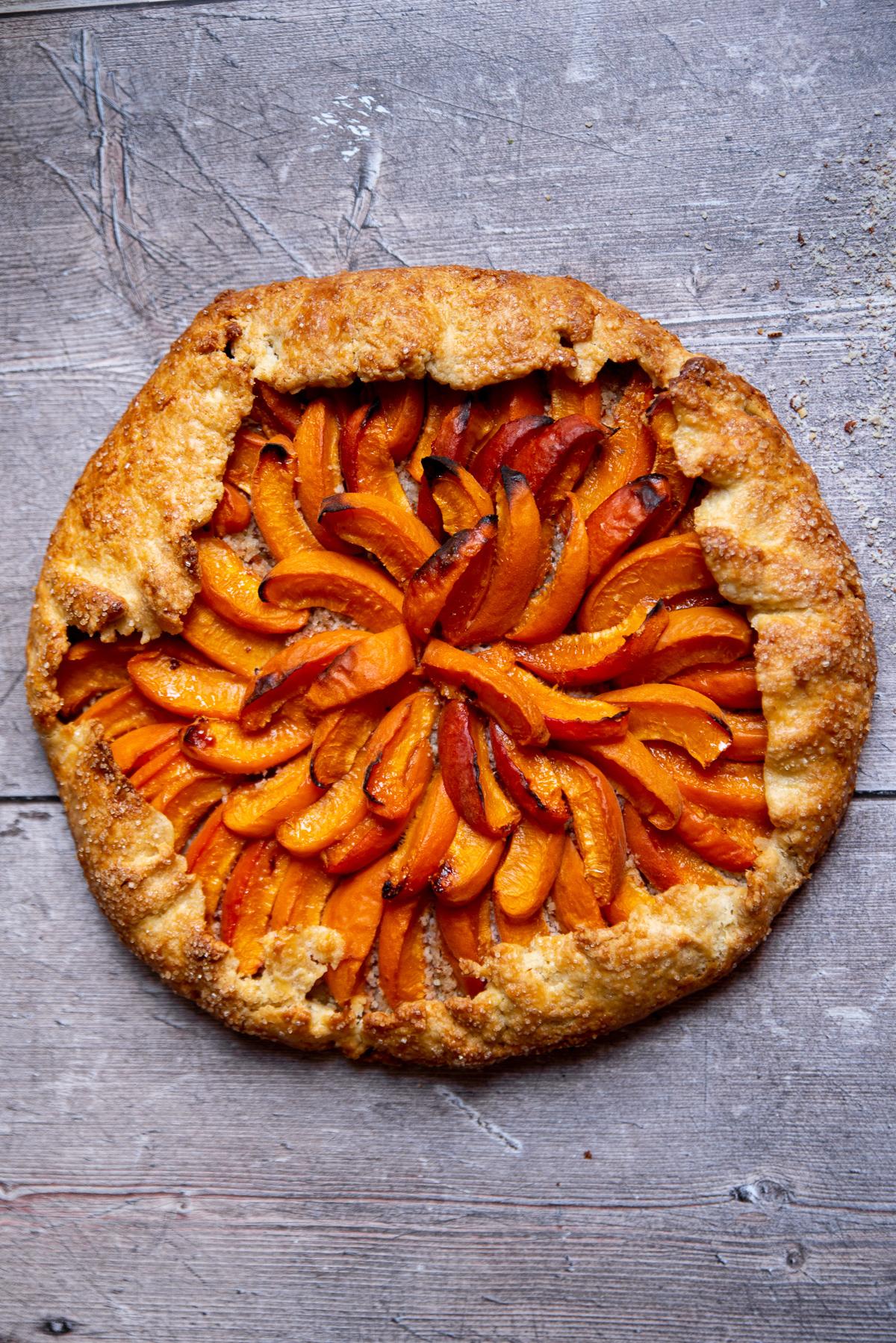 technique comment disposer morceau abricot sur fond de tarte quartier esthétique