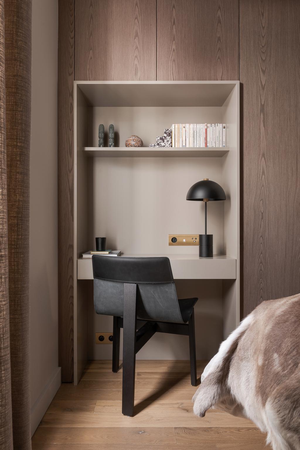 espace bureau chambre intégrée placard déco