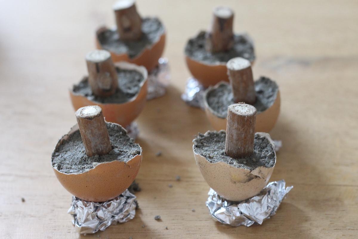 comment fabriquer champignon en béton déco automne